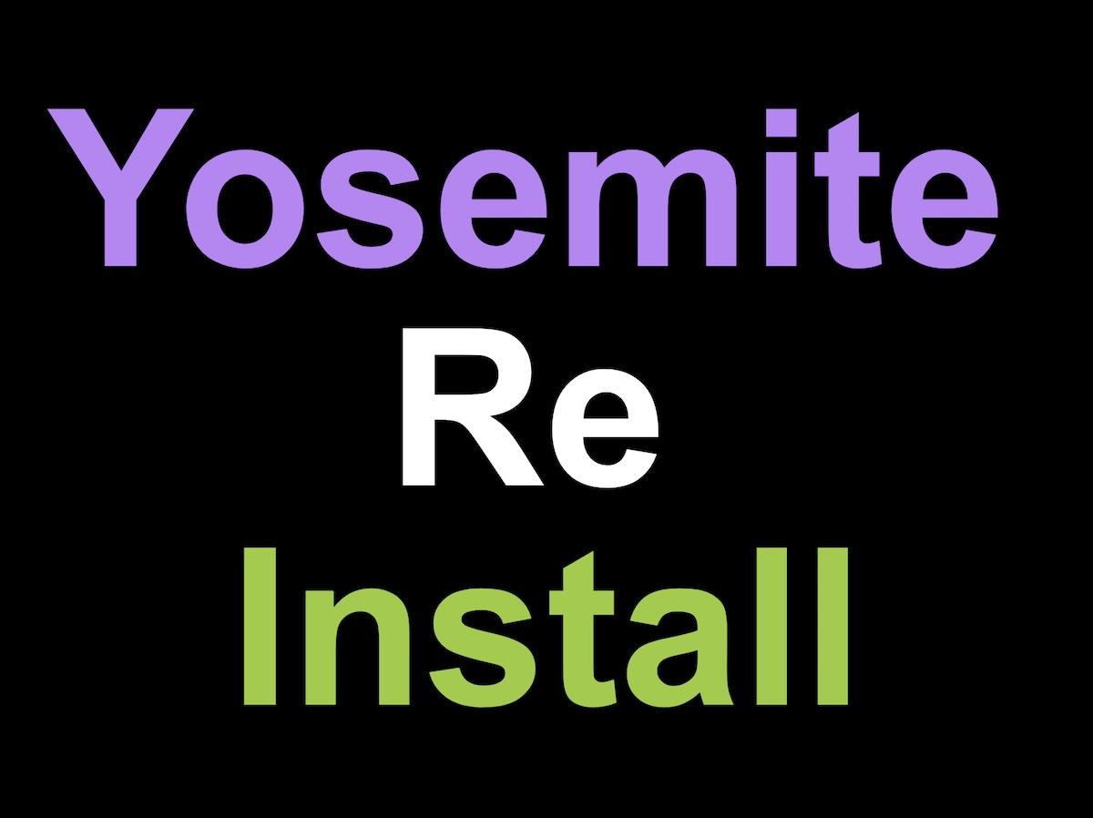Yosemite 初期化と再インストール