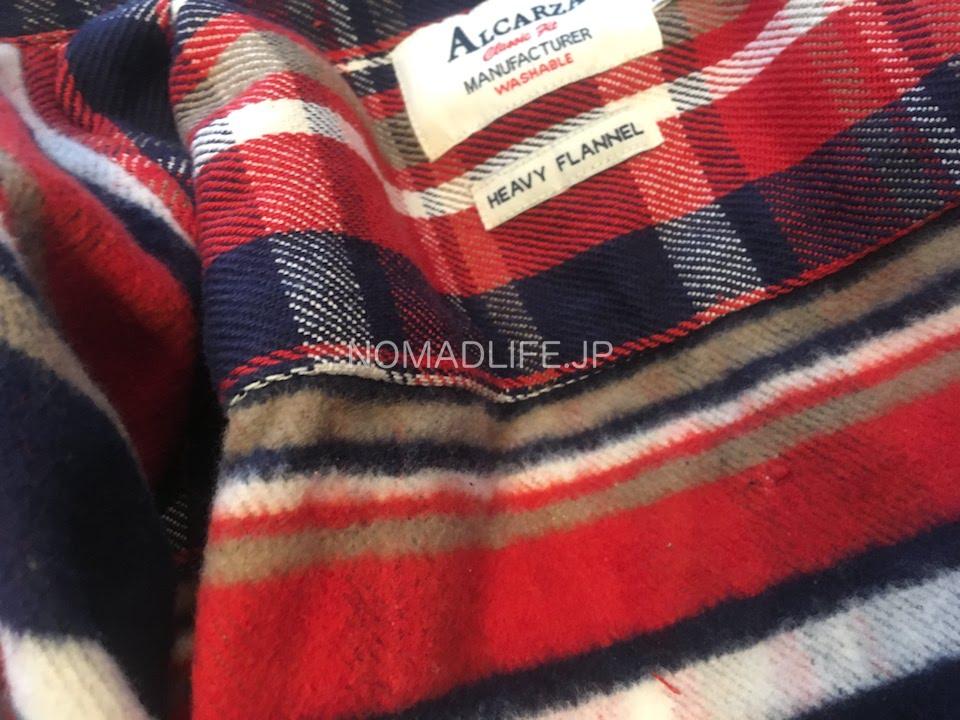 ALCARZA(アルカルザ) チェックシャツ 赤 裏起毛