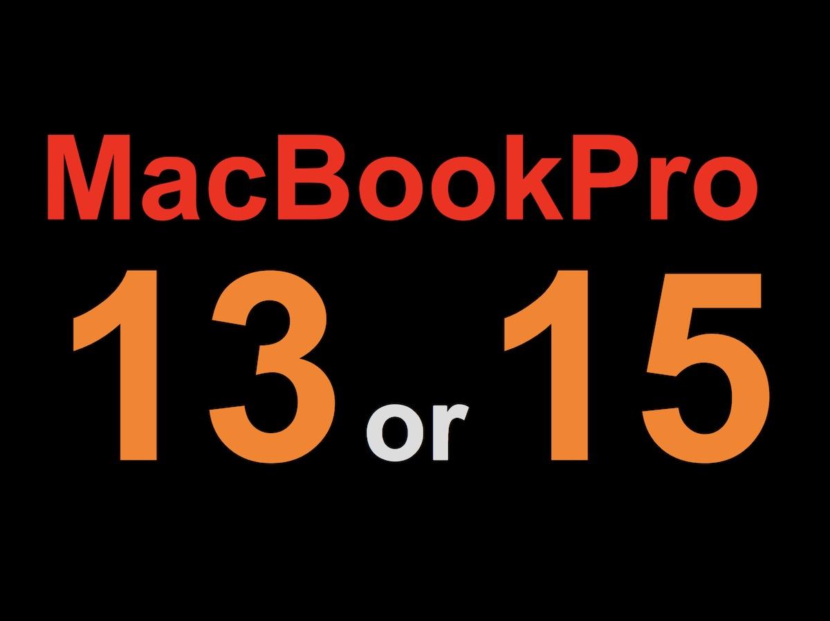 MacBookPro 13インチ or 15インチ