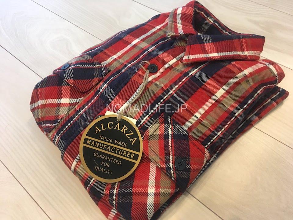 ALCARZA(アルカルザ) チェックシャツ 赤